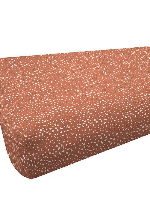 Drap housse 90 x 200 cm                             brique