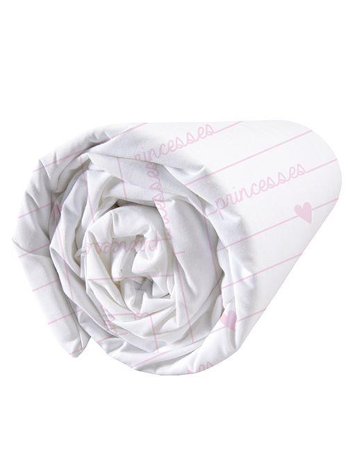Drap housse 'Disney Princess' 'Disney'                             blanc/rose