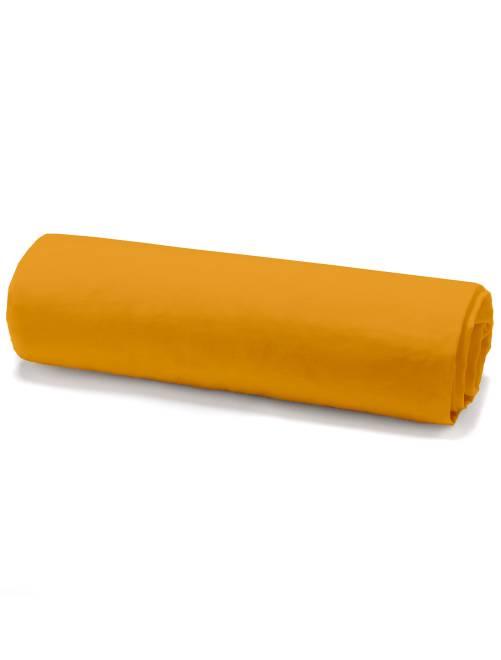 Drap housse en coton                                                     jaune Linge de lit