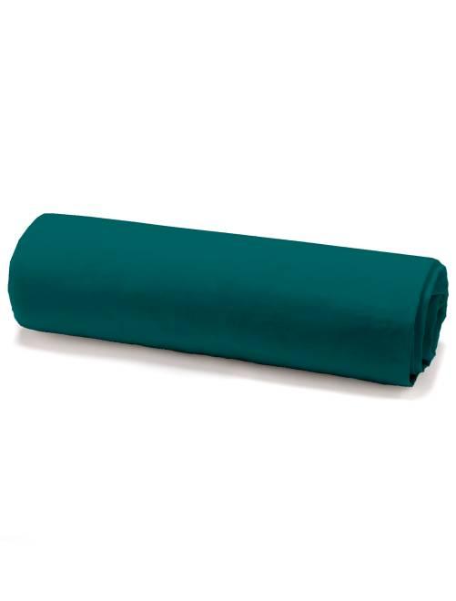Drap housse en coton                                 vert émeraude