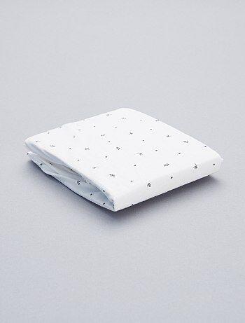Drap housse imprimé pur coton