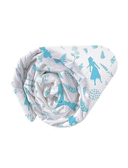 Drap housse 'La Reine des Neiges 2'                             blanc/bleu