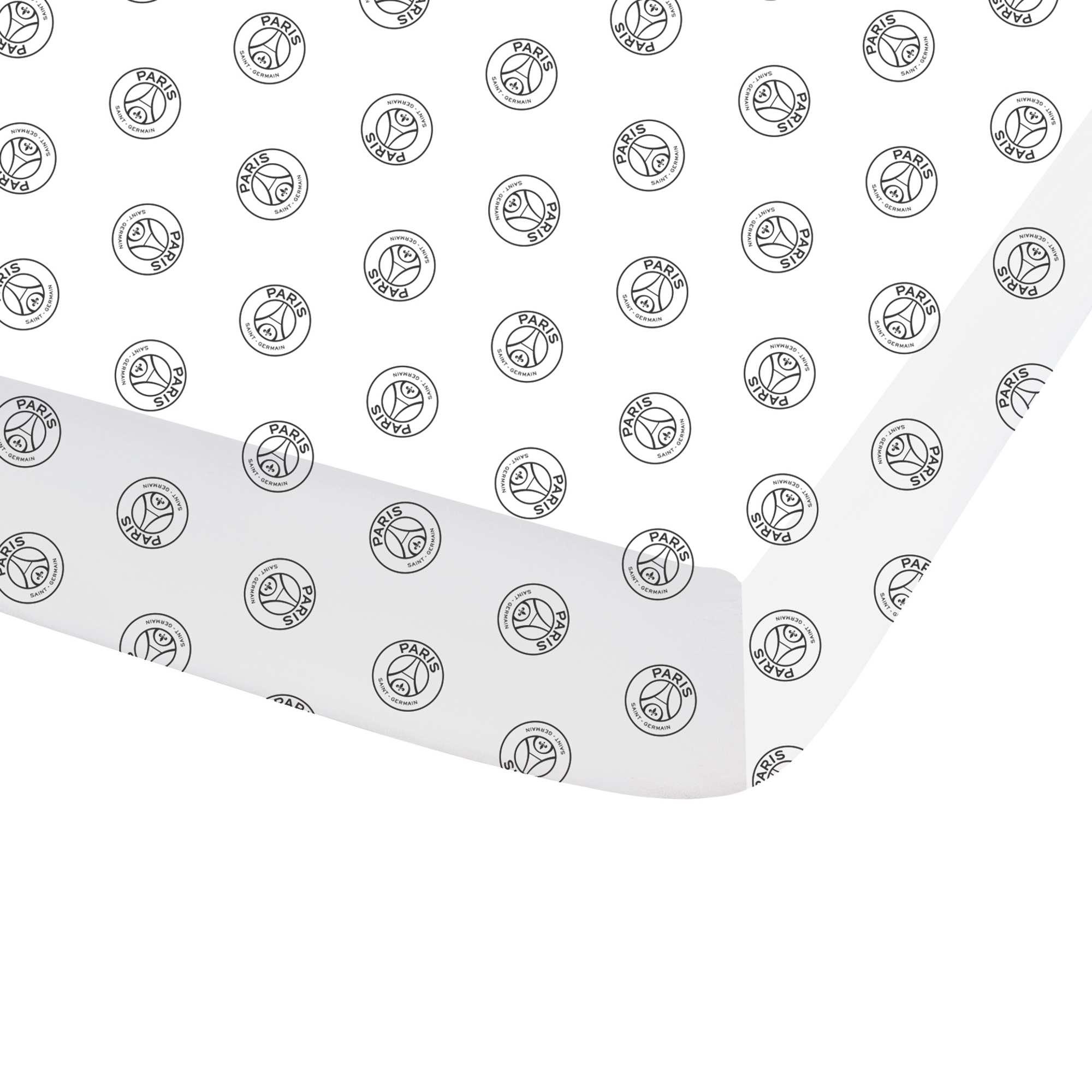 Couleur : blanc, , ,, - Taille : 90x190, , ,,On habille son lit aux couleurs du 'PSG'. - Drap-housse en pur coton 57 fils 'Paris