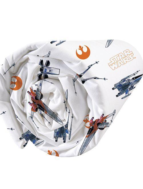 Drap housse 'Star Wars' 1 place                             blanc