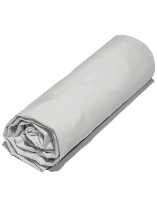 Drap housse uni 140 x 200 cm                                                                                         gris clair Linge de lit