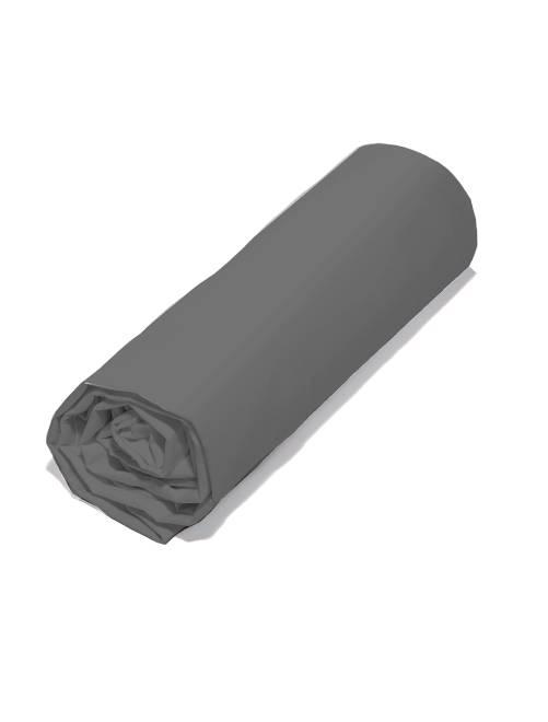 Drap housse uni 140 x 200 cm                                                         gris Linge de lit