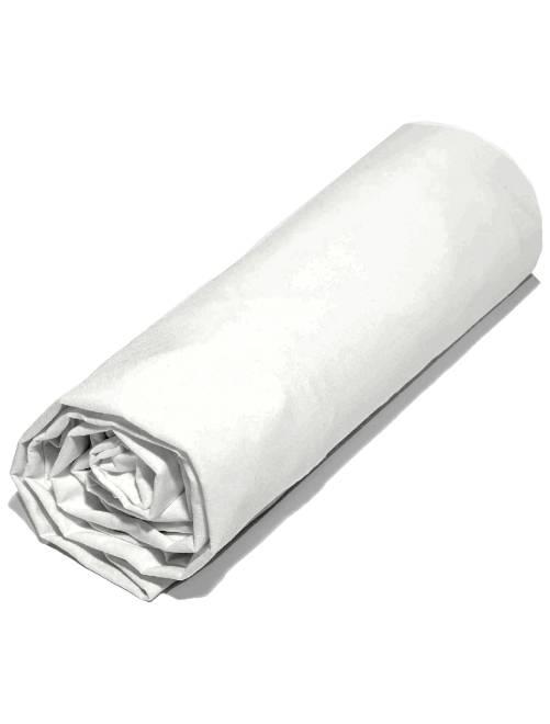 Drap housse uni 160 x 200 cm                                                                 blanc Linge de lit