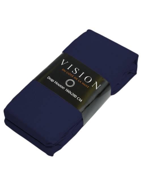 drap housse uni linge de lit bleu marine kiabi 10 00. Black Bedroom Furniture Sets. Home Design Ideas