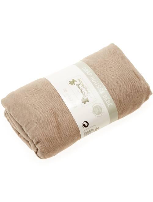 Drap housse uni pour lit bébé                                                                 beige