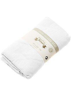 Linge de lit enfant - Drap housse uni pour lit bébé - Kiabi