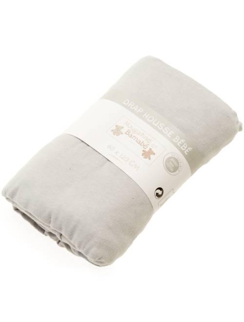 Drap housse uni pour lit bébé                                                     gris