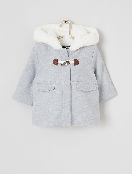 Duffle-coat à capuche                                         gris