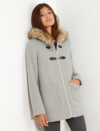 Duffle coat avec laine - Kiabi