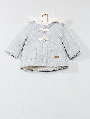 1520dd91d50bf Fille 0-36 mois - Duffle-coat doublé fausse fourrure - Kiabi