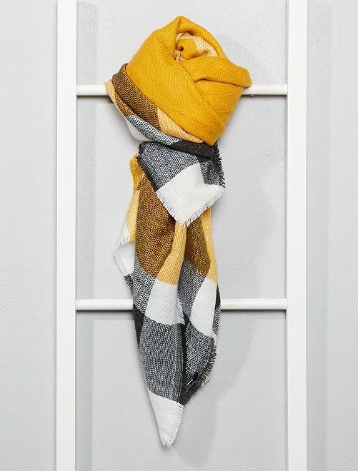 Écharpe à carreaux                                         jaune