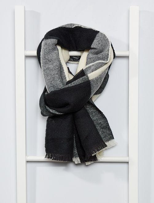Écharpe à carreaux                                                                                         noir