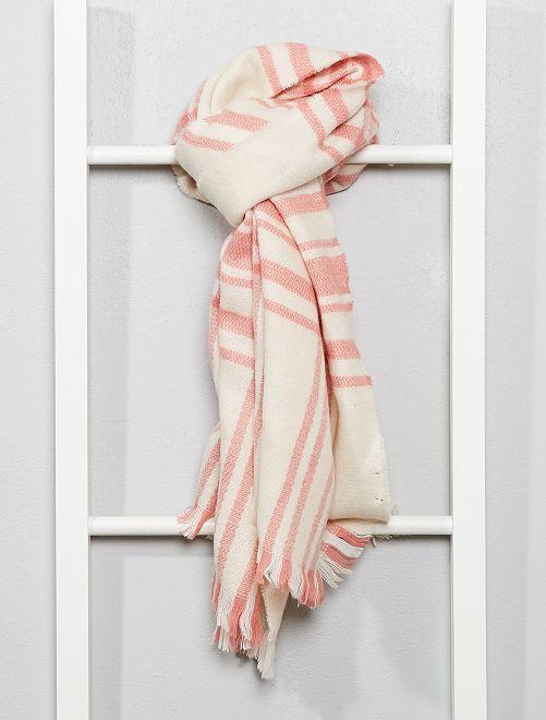 Écharpe à carreaux                                                     rose/blanc