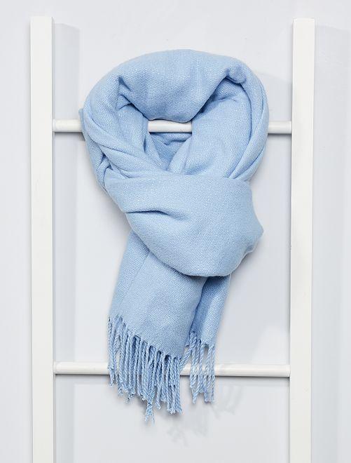 Écharpe à franges                                                                                                                                                     bleu clair