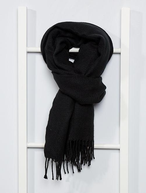 Écharpe à franges                                                                                                                                                     noir