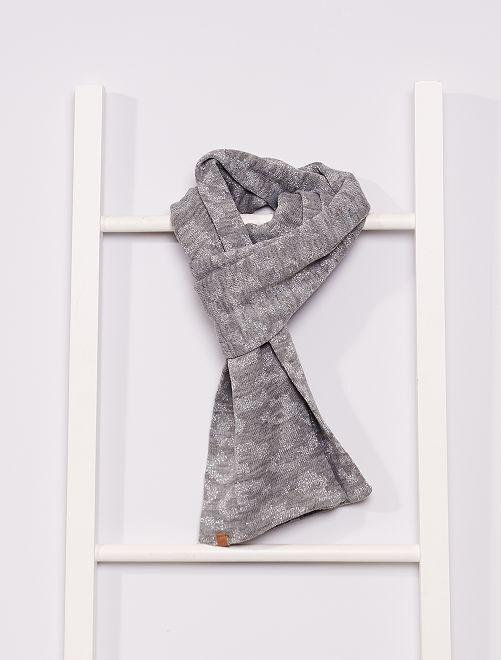 Écharpe à imprimé                                         gris clair