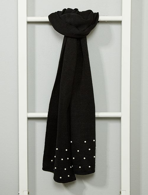 Echarpe avec perles                                         noir