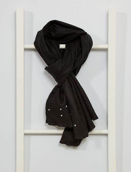 Echarpe avec strass                                                                 noir