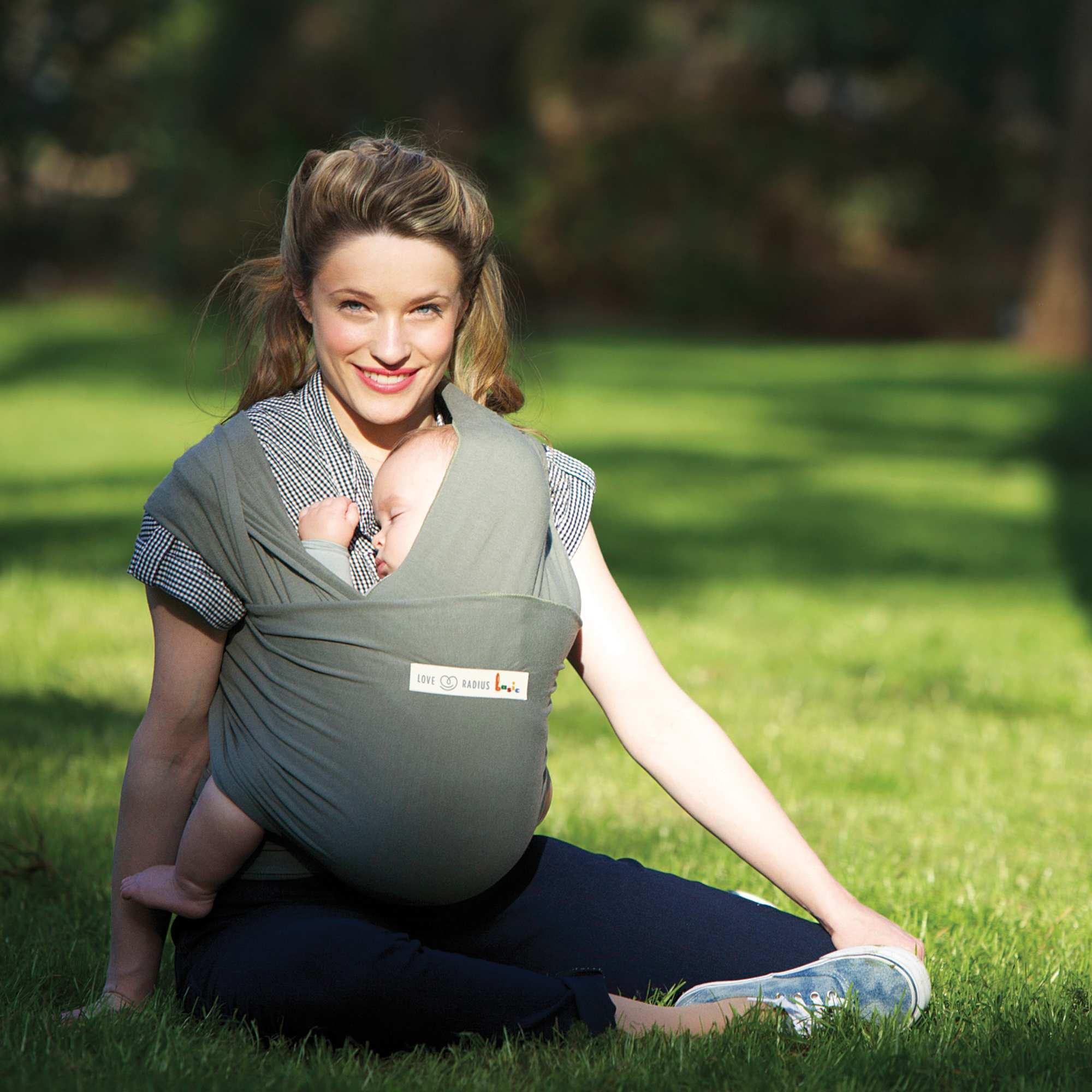Couleur : BEIGE, gris, ,, - Taille : TU, , ,,L'écharpe de portage 'Je porte mon bébé' une manière plus naturelle de porter bébé qui