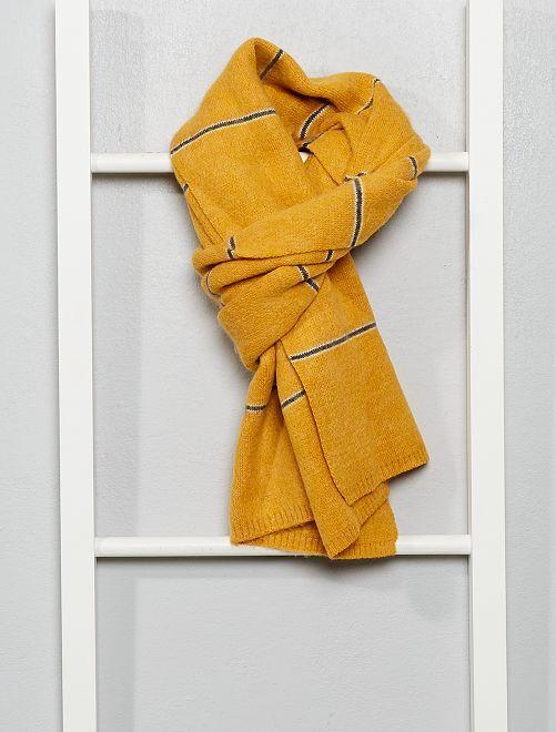 Écharpe en maille douce                                         jaune