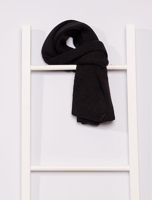 Écharpe en maille                             noir
