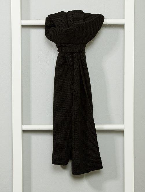 Écharpe en maille tricot                                         noir Homme