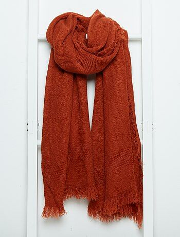 1d1b423948a Echarpe femme orange grosse echarpe laine femme