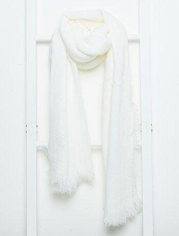 5fa296c00991 Echarpe unie femme echarpe laine et cachemire   Rlobato