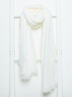 Grande taille femme Écharpe foulard unie