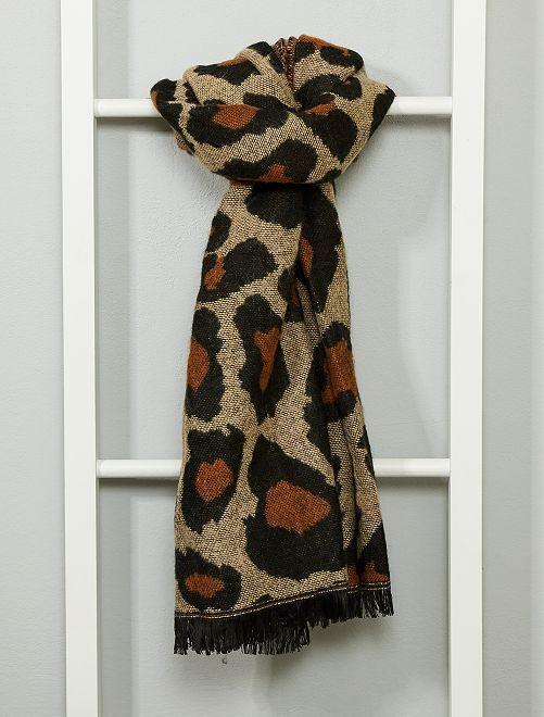 Écharpe léopard                             léopard