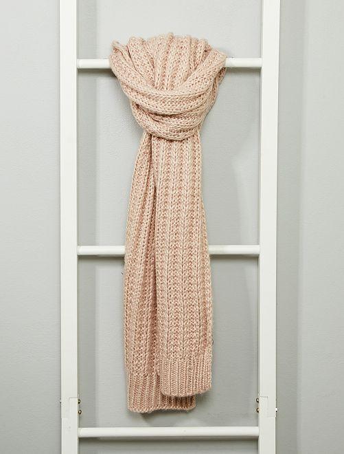 Écharpe tricot                                         rose