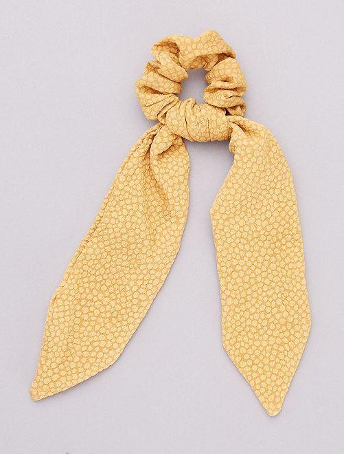 Élastique à cheveux avec nœud                                         jaune moutarde