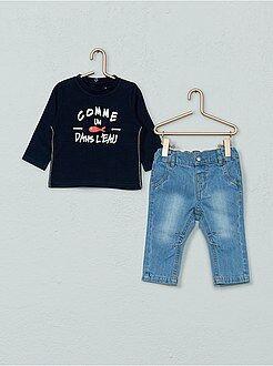 Ensemble 2 pièces jean + t-shirt