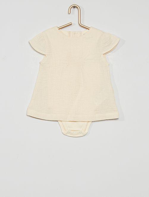 Ensemble blouse + body éco-conçu                             blanc