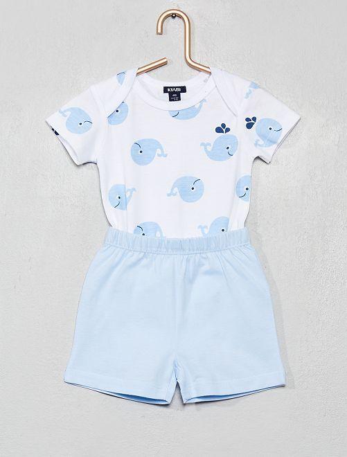 Ensemble body + short                             bleu
