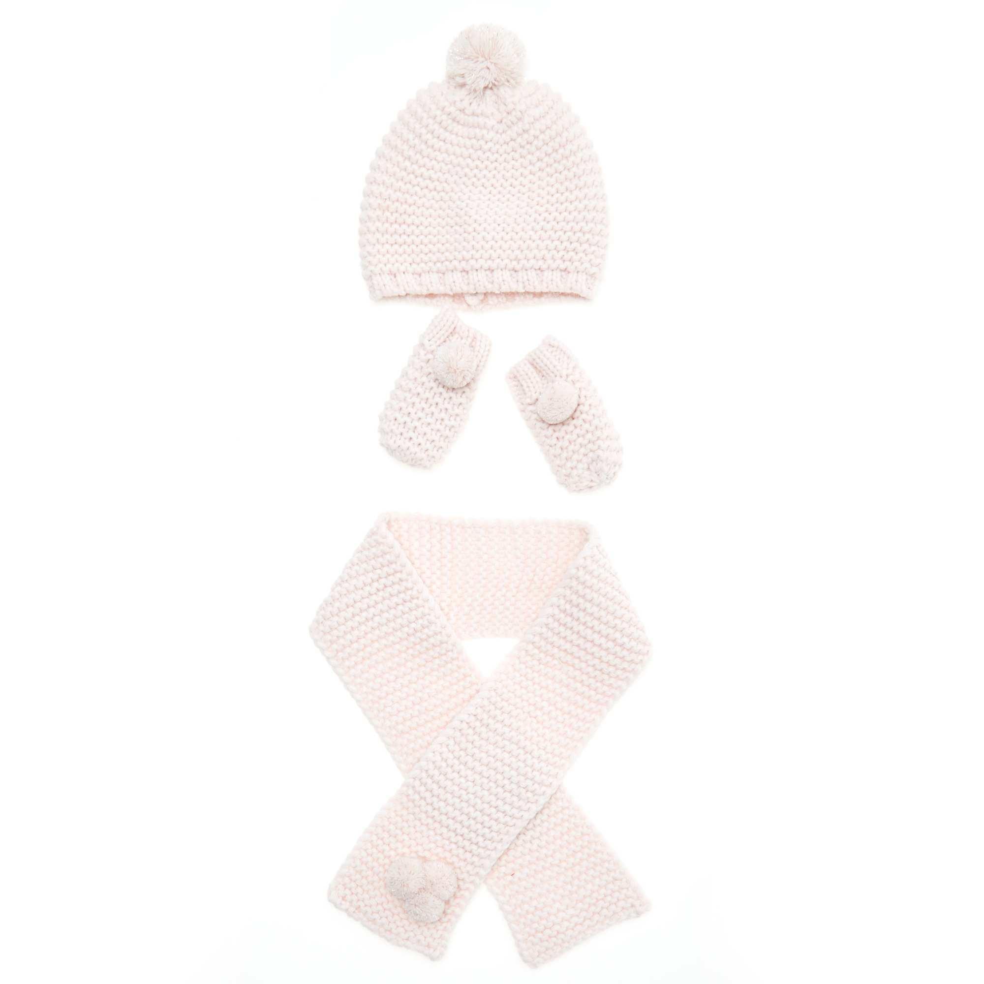 Ensemble bonnet + écharpe + moufle Bébé fille - rose pâle - Kiabi ... 0a845021f4c