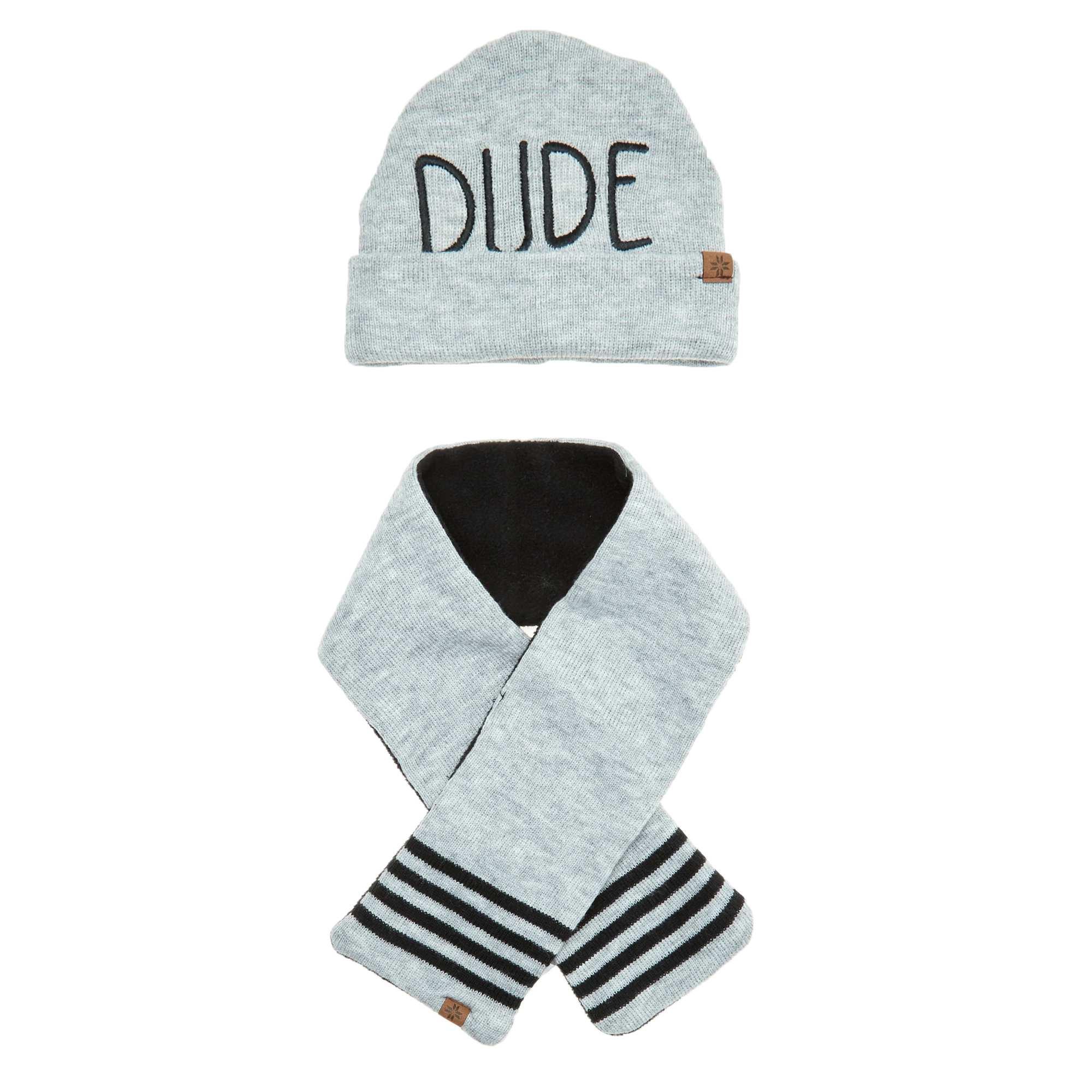 ensemble bonnet et charpe b b gar on gris kiabi 12 00. Black Bedroom Furniture Sets. Home Design Ideas