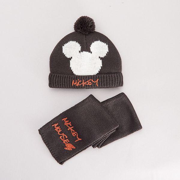 juste prix 100% d'origine soldes Ensemble bonnet et écharpe 'Mickey' Bébé garçon - gris foncé ...