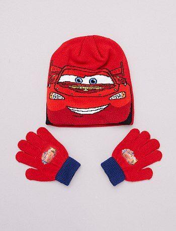 Ensemble bonnet et gants 'Cars'