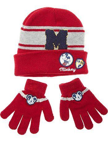 Garçon 3-12 ans - Ensemble bonnet et gants 'Mickey' - Kiabi