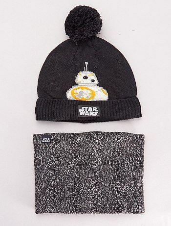 Ensemble bonnet et snood 'Star Wars'