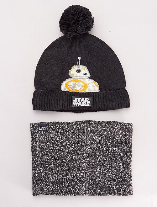 Ensemble bonnet et snood 'Star Wars'                             noir