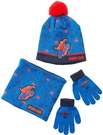 Ensemble bonnet + gants + snood 'Spider-Man' - Kiabi