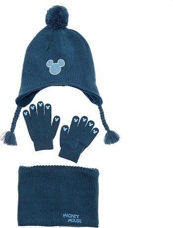 Ensemble bonnet + snood + gants 'Mickey' - Kiabi