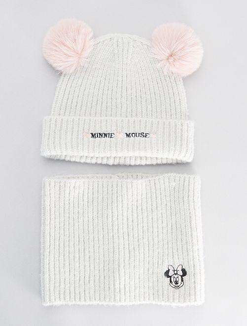 Ensemble bonnet + snood 'Minnie'                             gris