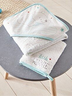 Chambre, bain - Ensemble cape de bain + gant assorti - Kiabi